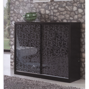 Shoe Storage Sliding Door Shoe Cabinet With Mirrored
