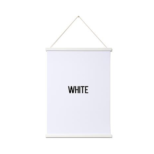 magnetic wooden poster hanger white a2