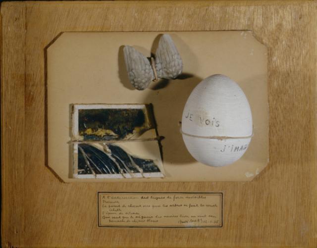 Andre Breton Poème Objet [Poem-Object] 1935 Surrealist assemblage art