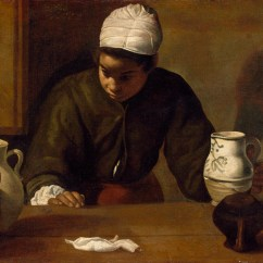 Kitchen Maid Garbage With The Supper At Emmaus By Diego Velazquez National Gallery Of Ireland