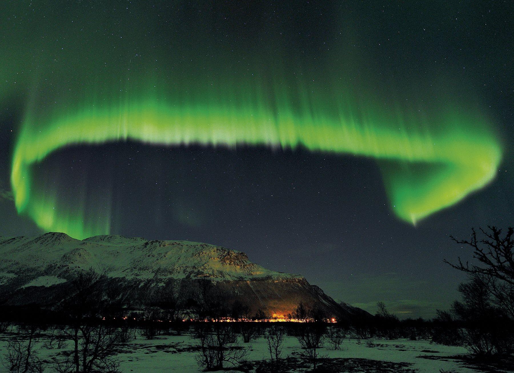 Aurora boreal en Tromsø, Noruega