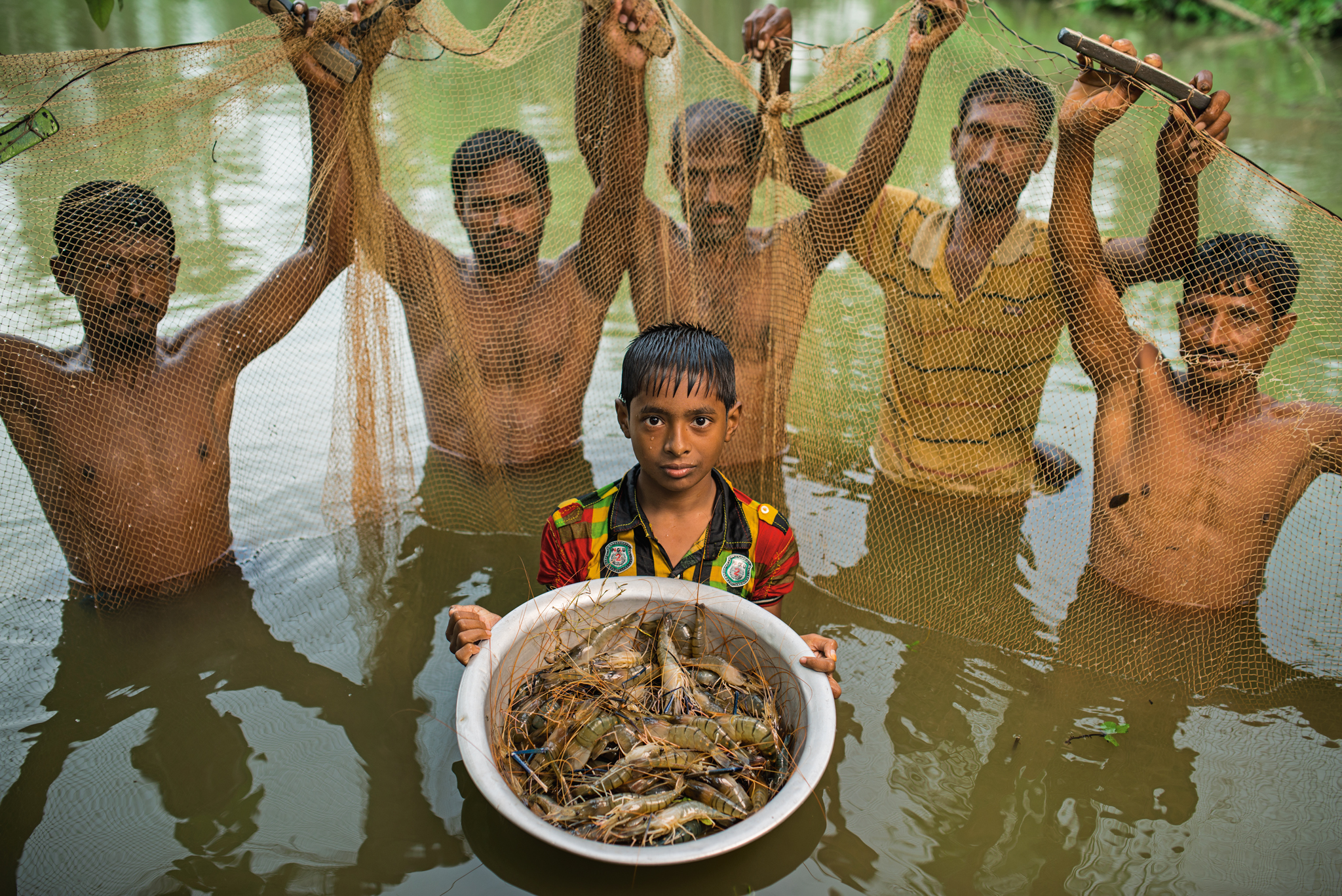 Picture of a fish harvest in Bangladesh