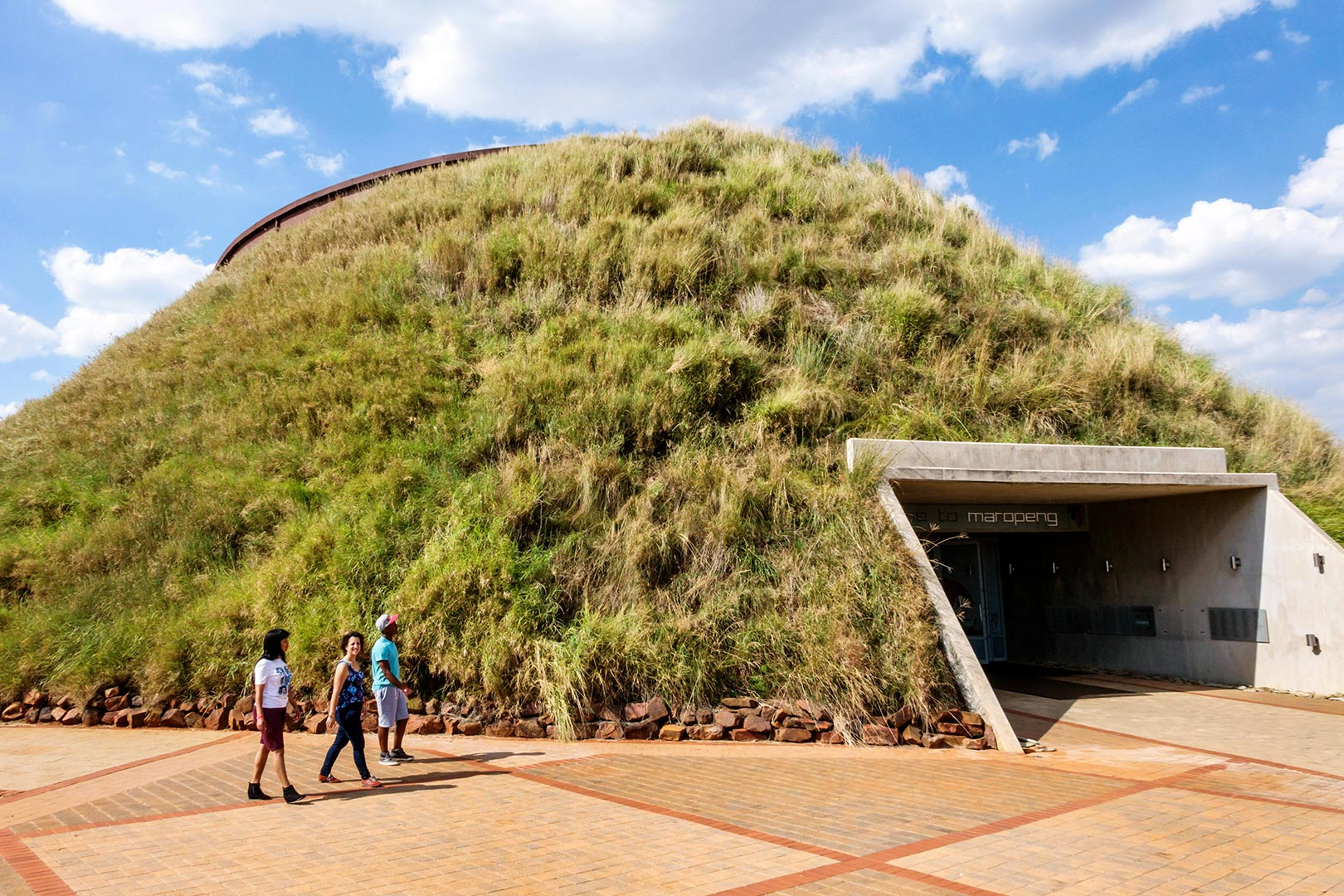 Picture of people at the Cradle of Humankind Visitor Center, Africa