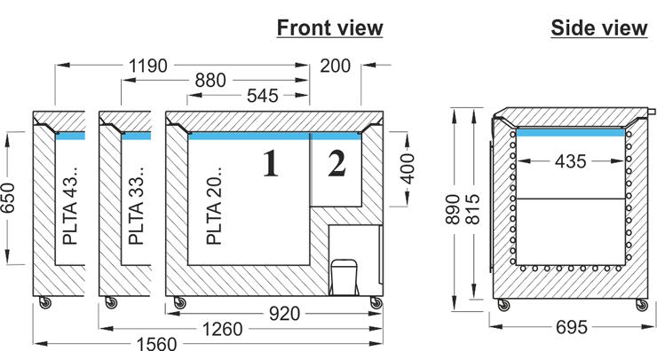 Laboratory Chest Freezer ProfiLine Taurus PLTA PLTA 0986