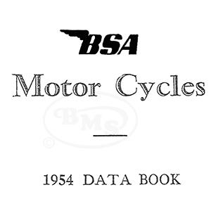 BSA 1954 Technical Data Manual. All models.EMURO/2176