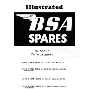 BSA 1958 to 1961 Illustrated Spare Parts Manual. A7 A7