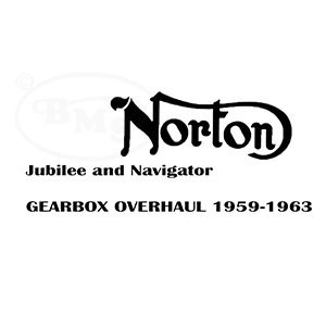 Norton Undated Gearbox stripdown/repair/ assembly sheets