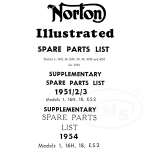 Norton 1950 to 1954 Illustrated Spares Manual. Big 4 16H