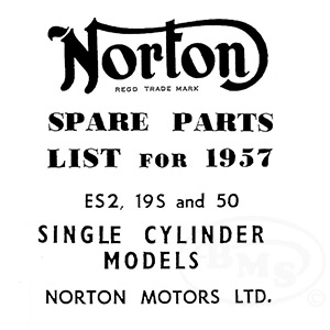 Norton 1957 to 1958 Illustrated Spare Parts Manual. Models