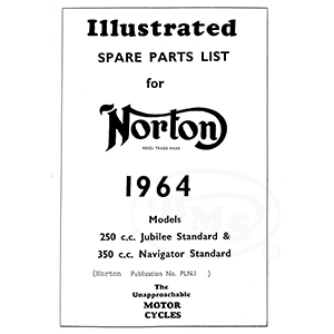 Norton 1964 Spare Parts Manual. 250cc Jubilee & 350cc