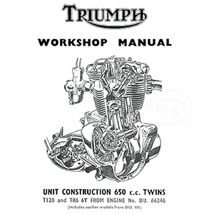 Triumph 1963 to 1969 Workshop Manual unit construction