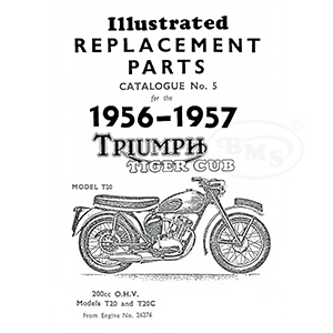 Triumph 1956 to 1957 Illustrated Spare Parts Manual 199cc