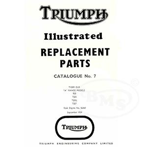 Triumph 1960 Illustrated Spare Parts Manual 199cc T20 T20S