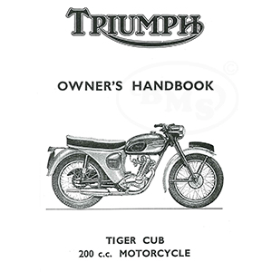 Triumph 1963 to 1964 Instruction Manual 200cc Tiger Cub