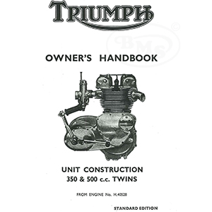 Triumph 1965 Instruction Manual Unit construction twins