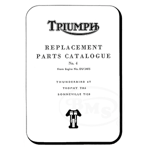 Triumph 1966 Illustrated Spares Manual 6T TR6 TR6C T120