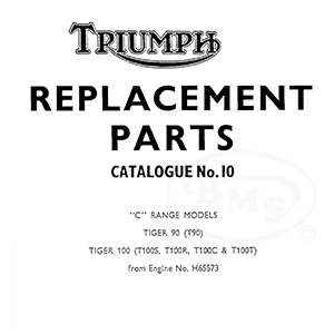 Triumph 1969 Illustrated Spare Parts Manual T90 T100C