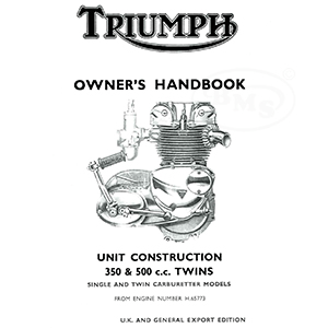 Triumph 1969 Instruction Manual for 350cc and 500cc twins
