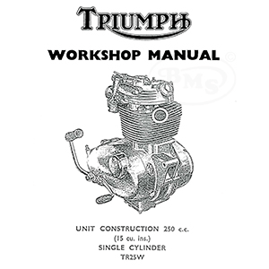 Triumph 1969 to 1970 Workshop Manual for 250cc TR25W model
