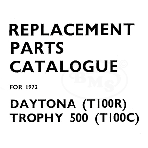Triumph 1972 Illustrated Spare Parts Manual 490cc T100R