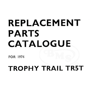 Triumph 1973 to 1974 Illustrated Spare Parts Manual 490cc