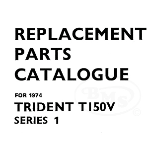 Triumph 1974 Illustrated Spare Parts Manual 741cc Trident