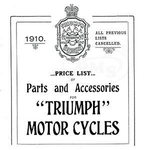 Triumph 1910 Illustrated Spare Parts and Repair Manual