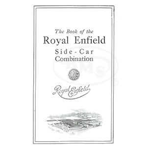 Royal Enfield 1922 to 1923 Instruction Manual. Covers 8hp