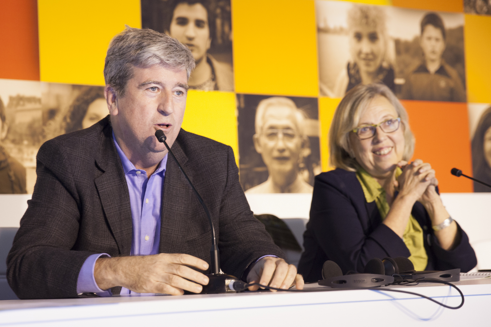 Ontario Minsiter Glen Murrary and Elizabeth May Green leader Paris COP21 - Mychaylo Prystupa