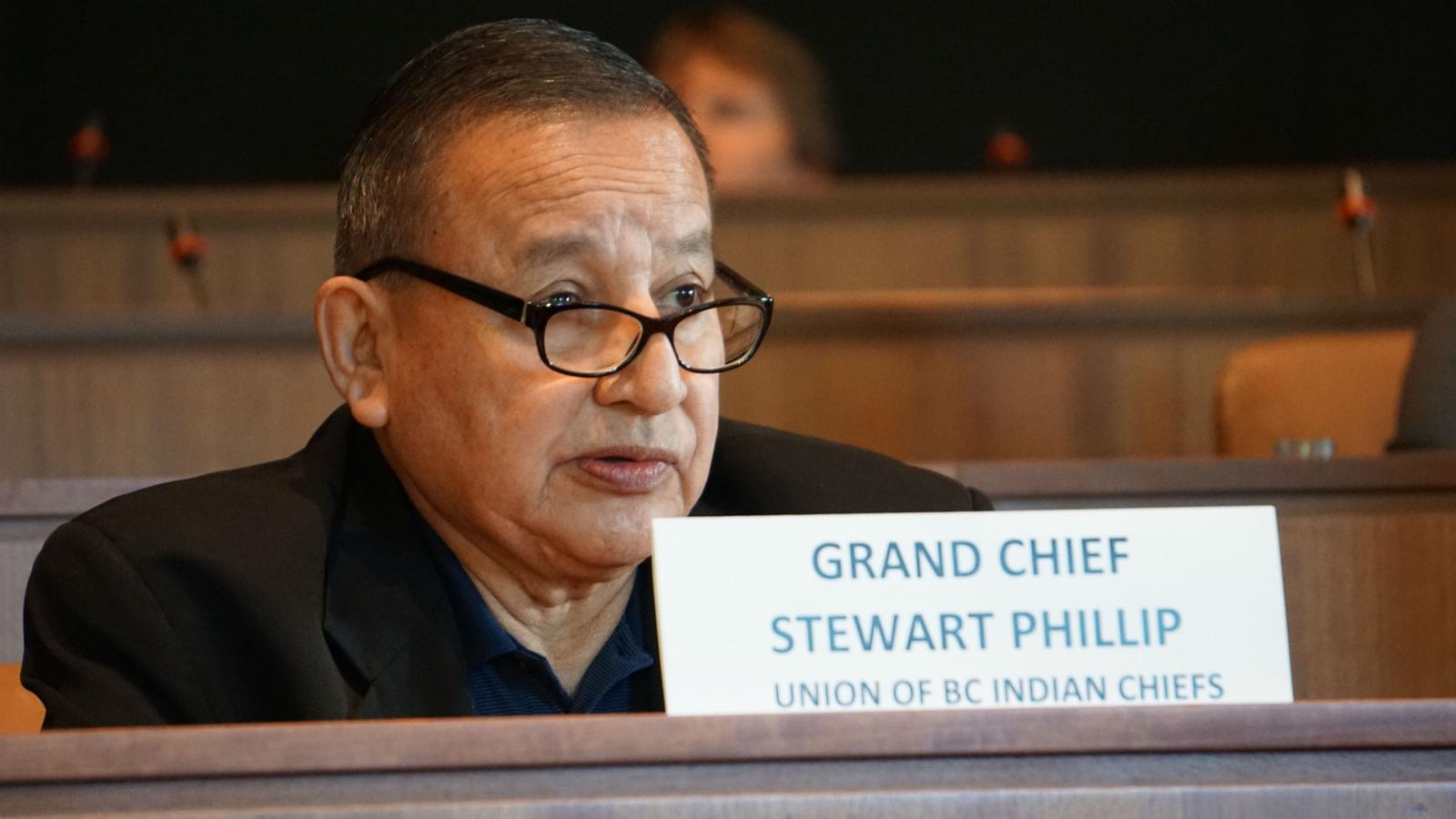 Grand Chief Stewart Phillip, Melanie Mark, Kinder Morgan, Trans Mountain expansion