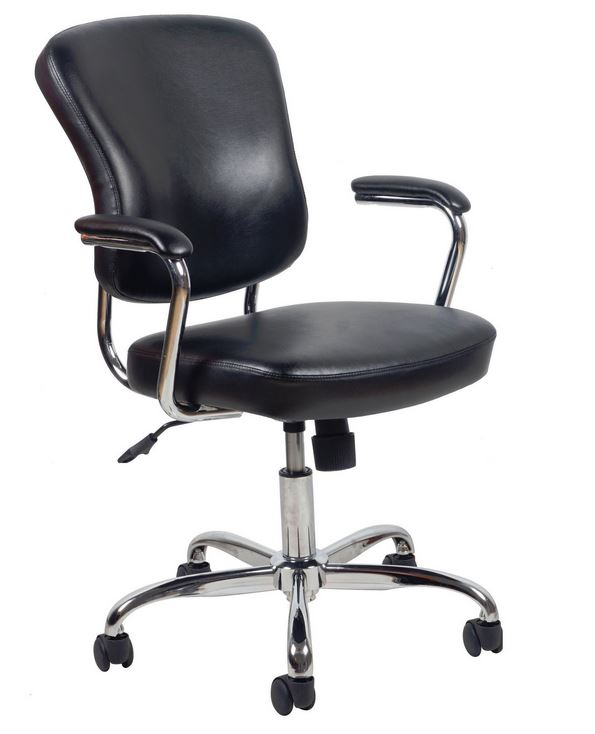ofm posture task chair recliner chairs perth dynamic solutions dyn-d806 leather office with chrome base & arms