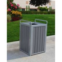 32 Gallon Plaza Recycled Plastic Trash Receptacle - Quick Ship
