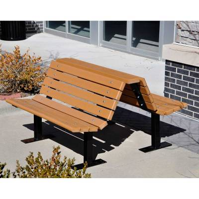 double adirondack chairs with umbrella clamp on chair sun 4', 6' and 8' douglas recycled plastic bench - portable/surface mount quick ship