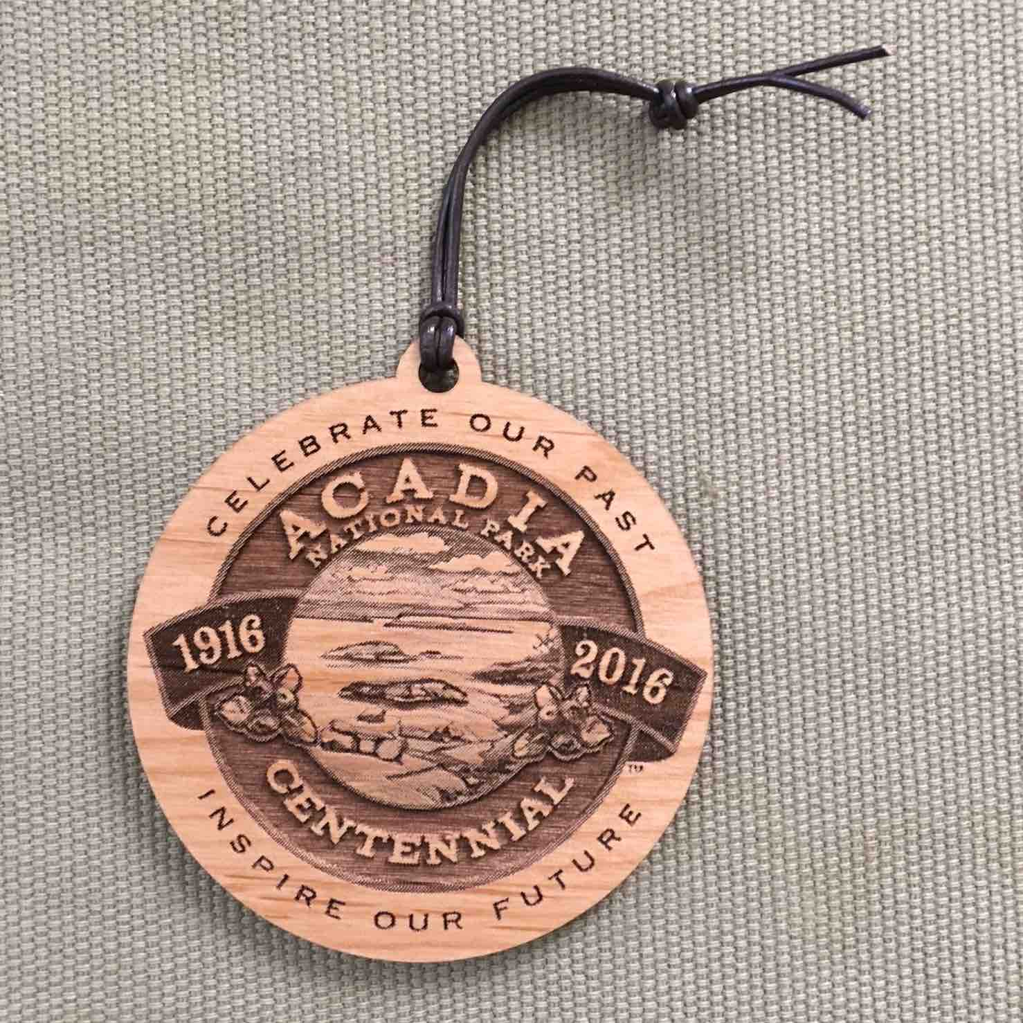Acadia National Park Ornament w/Leather Loop
