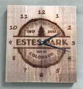 Estes Park Centennial Wall Clock