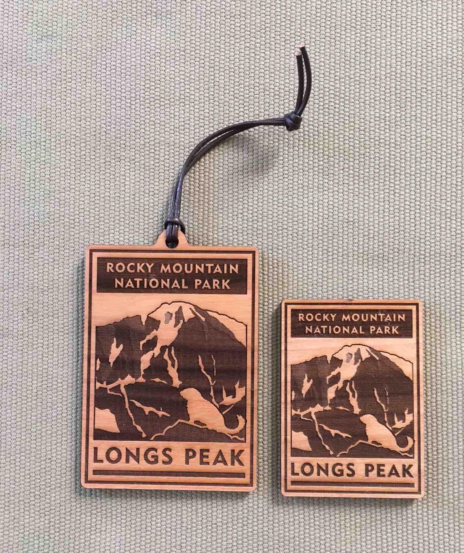 Longs Peak Scenic Icon - Ornament & Magnet
