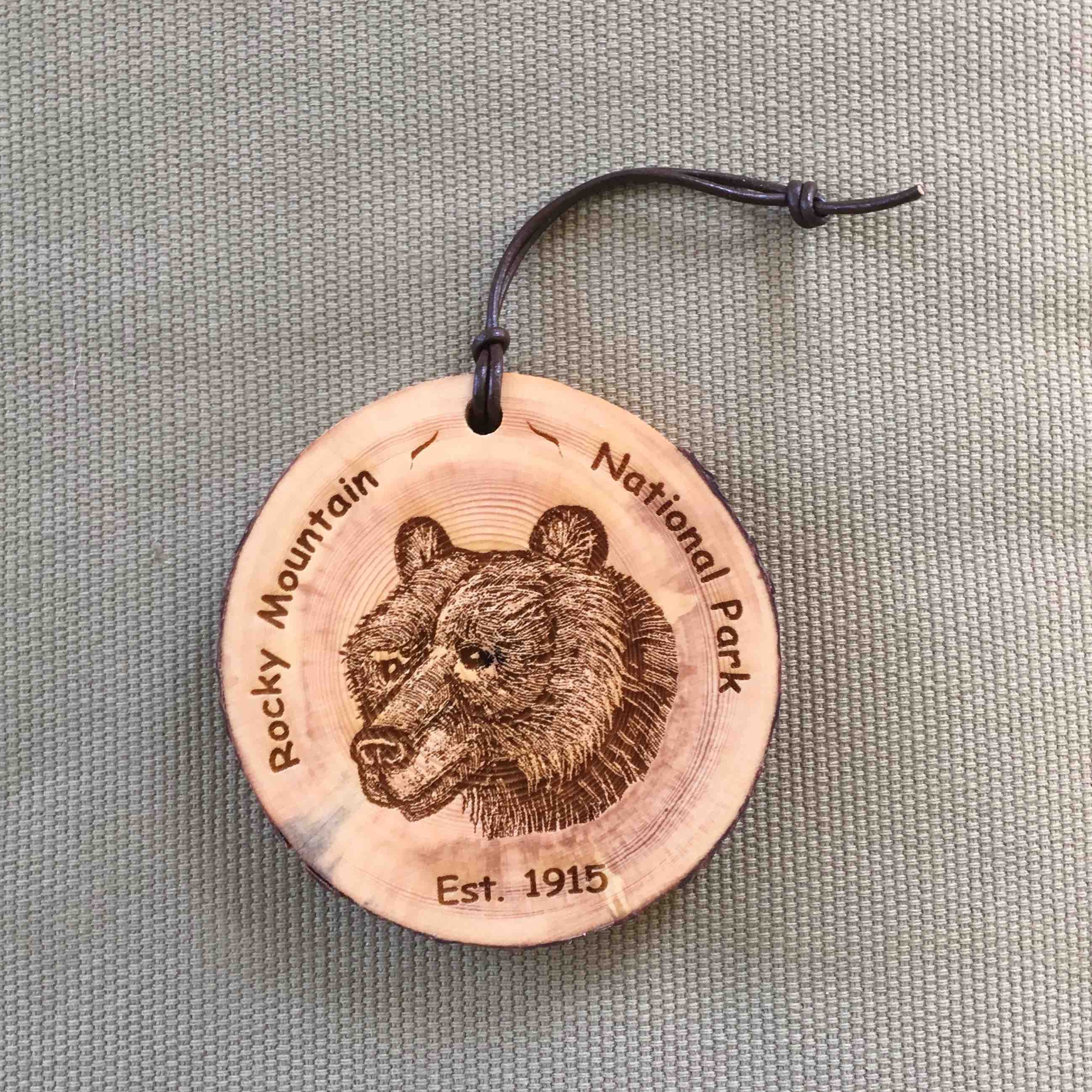 RMNP - Bear Bark Ornament