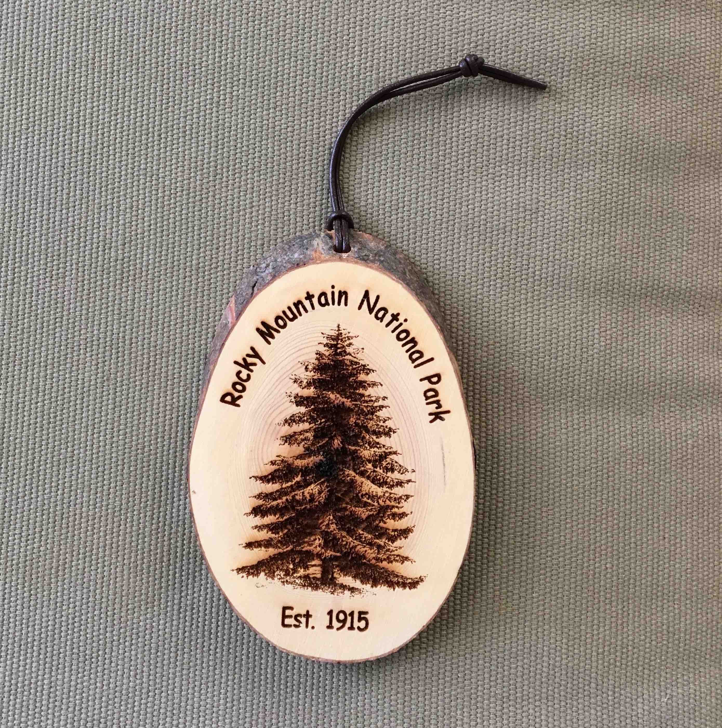 RMNP - Christmas Tree Bark Ornament
