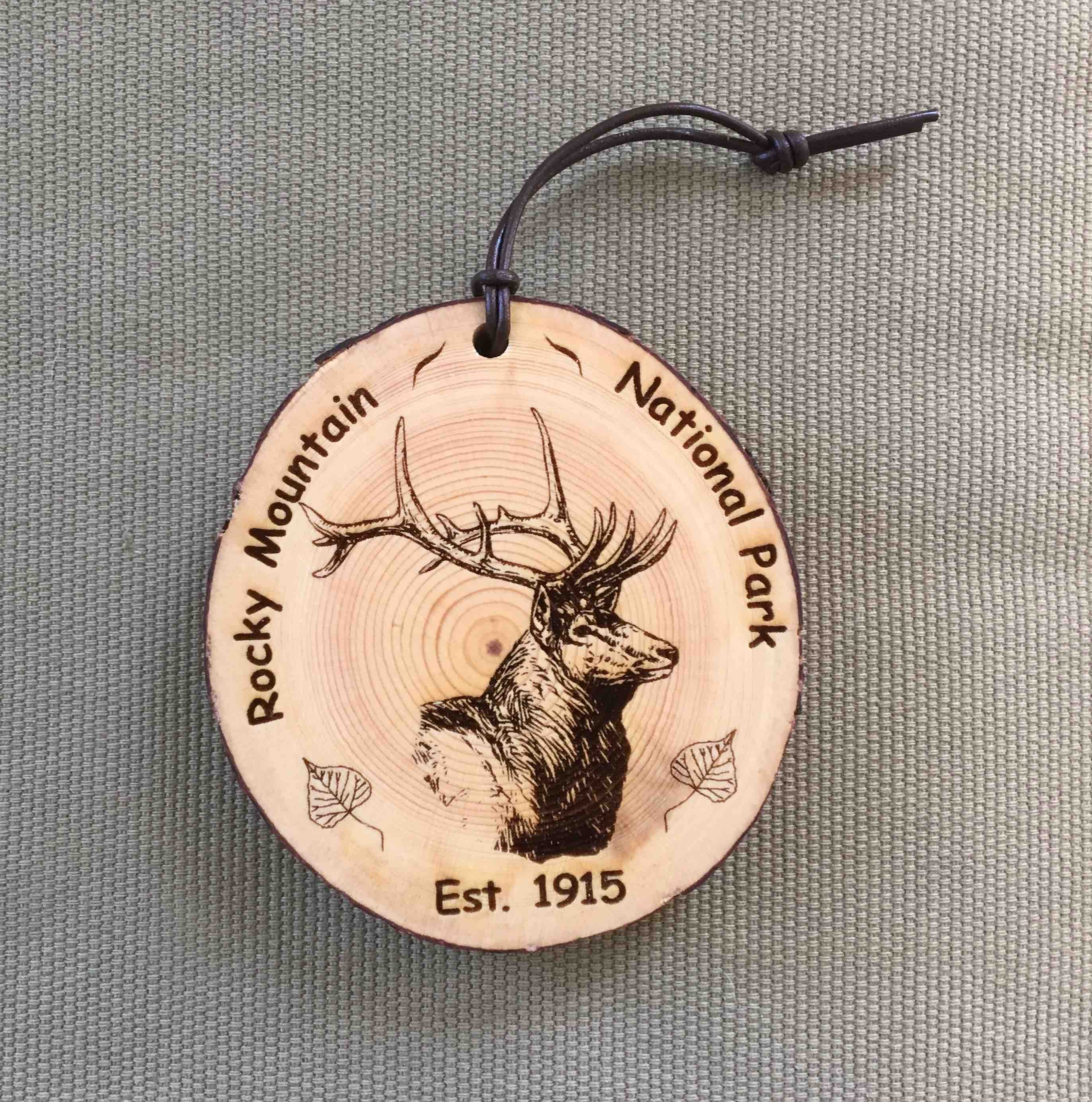 RMNP - Elk Bark Ornament