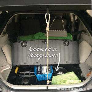 prius car camping kitchen