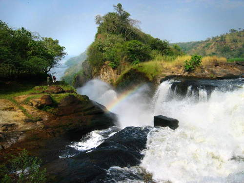 TOP 10 TOURIST ATTRACTIONS IN WESTERN UGANDA: Murchison Falls from the top.