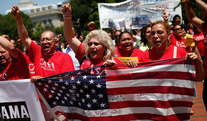5ea9109b5219c3 Immigration reform rally in Washington, D.C., July 2014. (Win McName Getty)