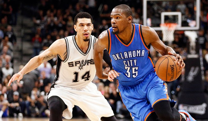 2b2253b10a6f Kevin Durant (right) during an NBA playoff game in May. (Soobum Im USA  Today Sports Reuters) ...