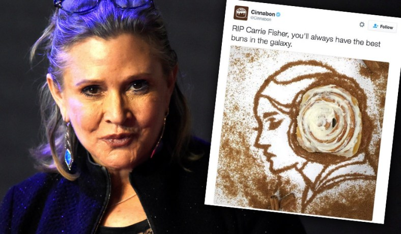 Cinnabon Carrie Fisher Tweet Controversy Jokes About Death Can Be