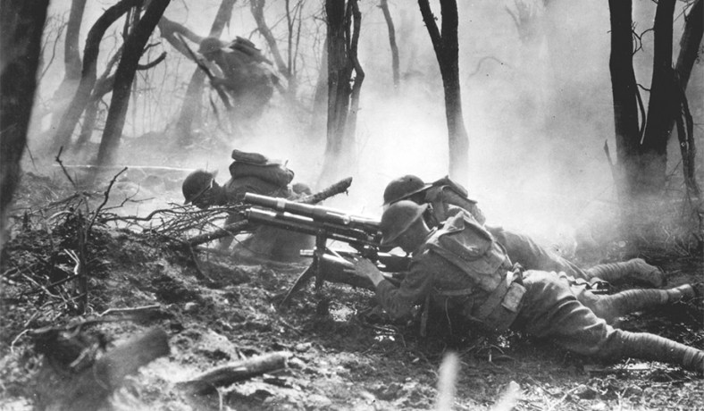 American troops of the 23rd infantry advance against german forces photo national archives the legacy of world war