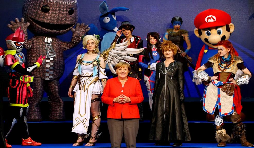 8ef988102911 German Chancellor Angela Merkel opens Gamescom. (REUTERS  Wolfgang Rattay)
