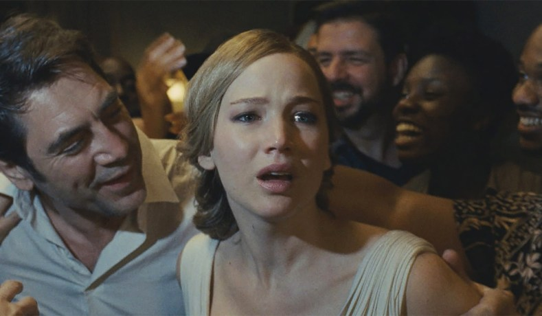 Javier Bardem At Left And Jennifer Lawrence In Mother Paramount Pictures Mother An Exercise In Torture Porn