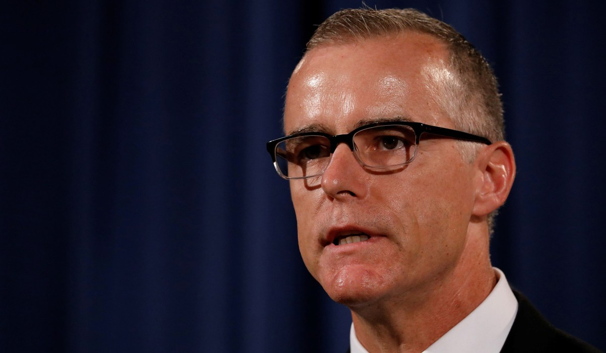 Andrew McCabe & Hillary Investigation: Recusal Would Have ... Andrew Mccabe