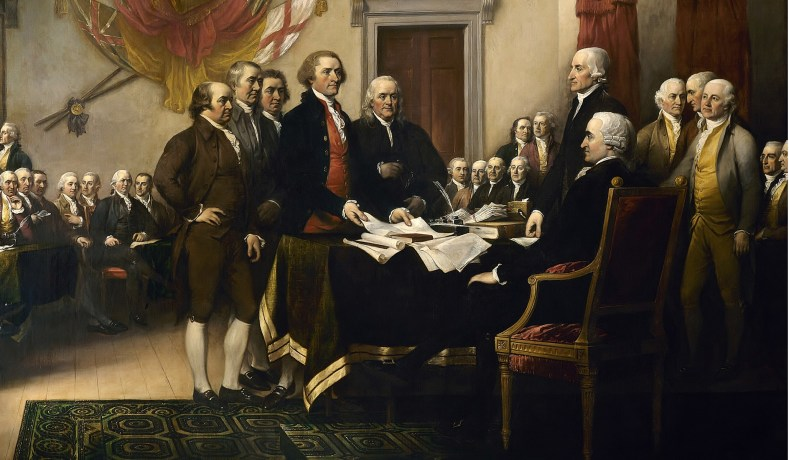 'Declaration of Independence' by John Trumbull, 1819 (US Capitol/Wikimedia)