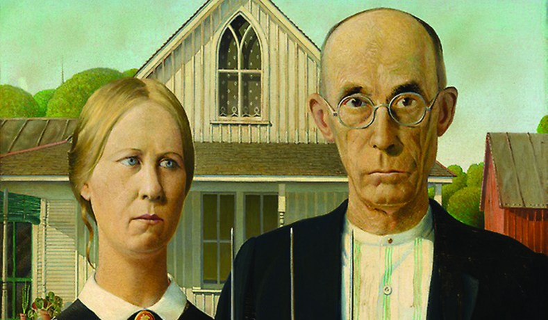 American Gothic By Grant Wood Collection Of The Art Institute Chicago
